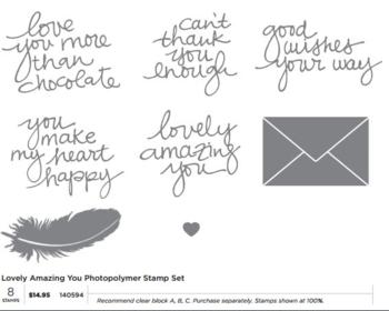 Lovely Amazing YOU stamp set # 140594