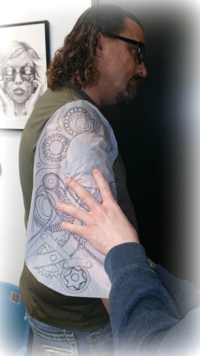 Rich and his new Tattoo design