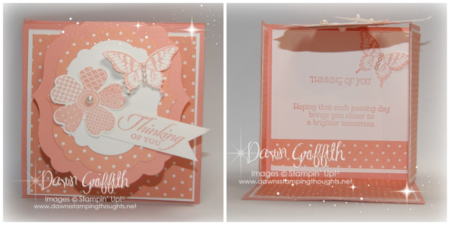 Label Flap Triple Fold card Crisp Cantaloupe #1