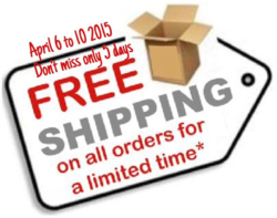 FREE shipping until April 10, 2015