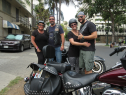 Harley ride in Hawaii with Jason and Sage
