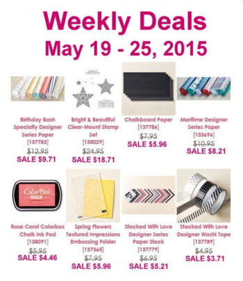 Weekly deals until May 25th