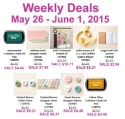 Weekly Deals until June 1 2015