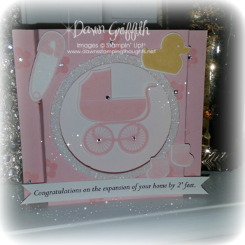 Baby girl shadow box card #2