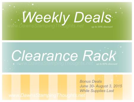 Bonus Deals  banner Dawn Griffith