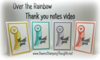 Over the Rainbow Thank you notes for July video #1