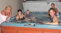 Hot tub fun with my girls