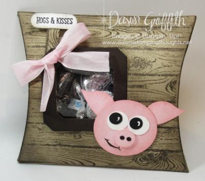 Barmyard Baby Pig square Pillow box  Dawn Griffith Stampin'Up!