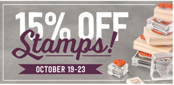 15% off all stamp sets