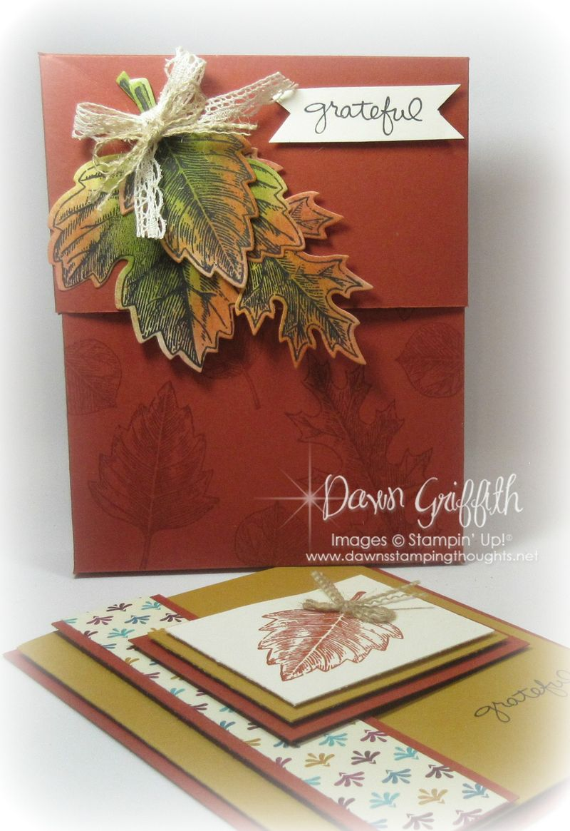 #1 Grateful card box Dawn Griffith Stampin'Up!