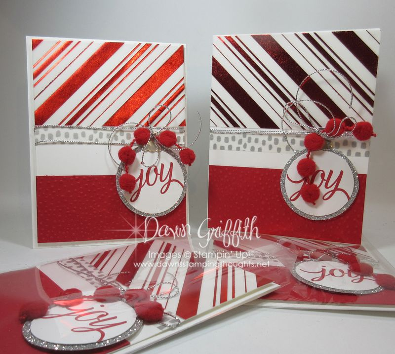 Joy Christmas cards Dawn Griffith Stampin'Up!