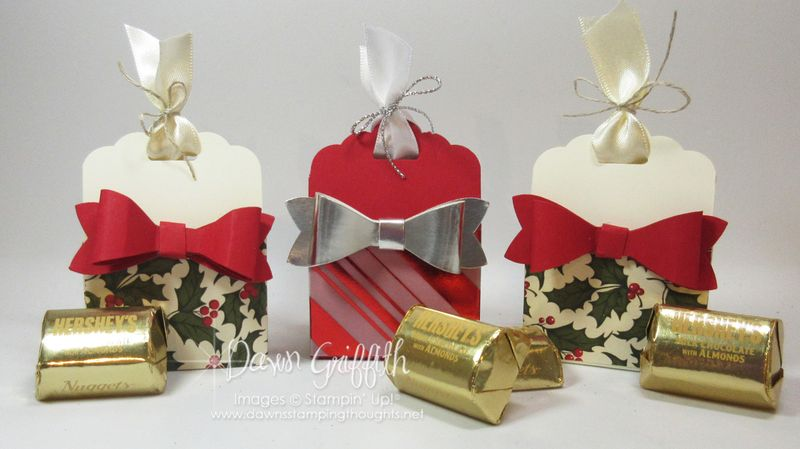 Scallop Tag Topper punch candy holder