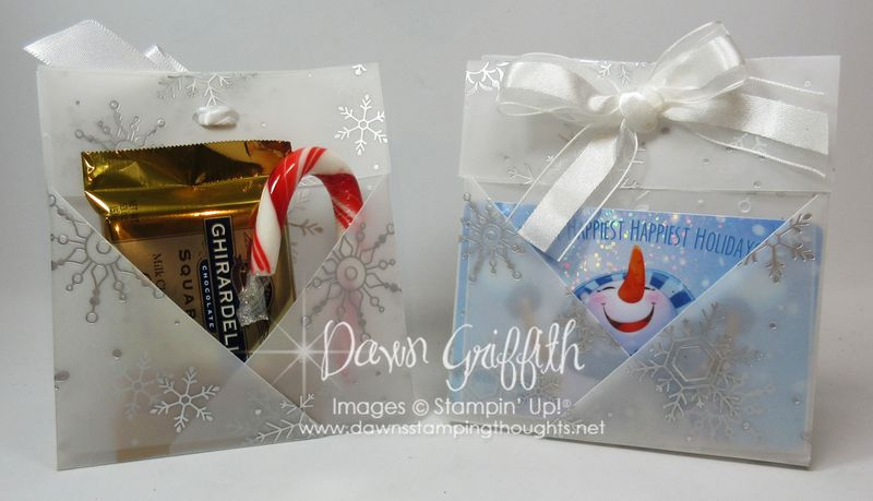 Origami Gift Card and Candy Holders #1 Stampin'Up! Dawn Griffith