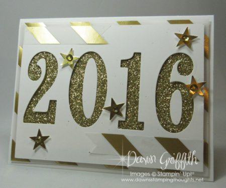 Count down Happy New Year hour 6 Dawn Griffith Stampin up!