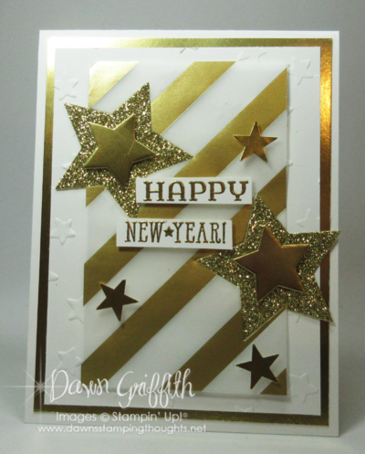 Count down Happy New Year hour 1 Dawn Griffith Stampin up!