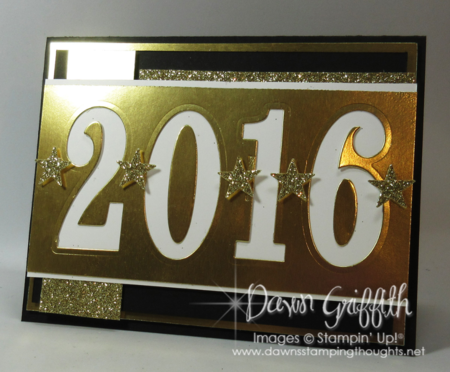 Count down Happy New Year 2016  Dawn Griffith Stampin up!
