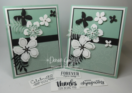 Botanical Builder Framelits any Occasion cards Stampin'Up! by Dawn Griffith