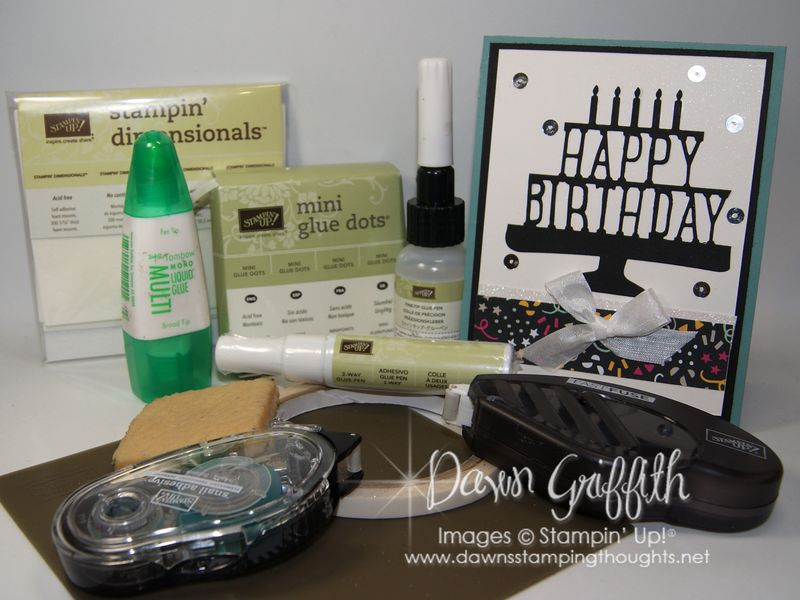 Adhesives from Stampin'Up! Dawn Griffith