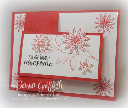 #1 Grateful Bunch stamp set  Watermelon Wonder Flap card Dawn Griffith Stampin'Up!
