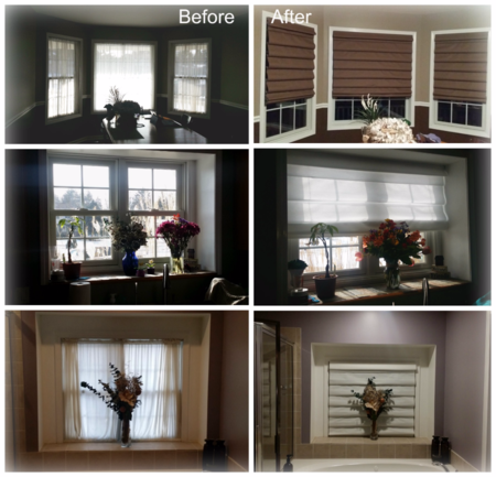 Roman Shades Before & After Dawn Griffith