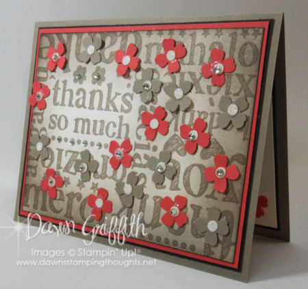 Thanks so much #1 by Dawn Griffith Stampin'Up! Demonstrator #2