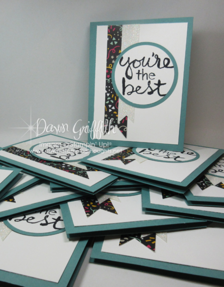 Glitter Queens top 10 for February 2016 cards Dawn Griffith Stampin'Up! Demonstrator Z Fold card