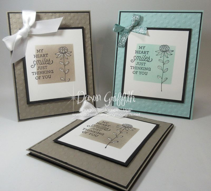 My Heart Smiles cards Dawn Griffith Stampin'Up!