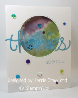 Thanks so much  card from Terrie Crawford