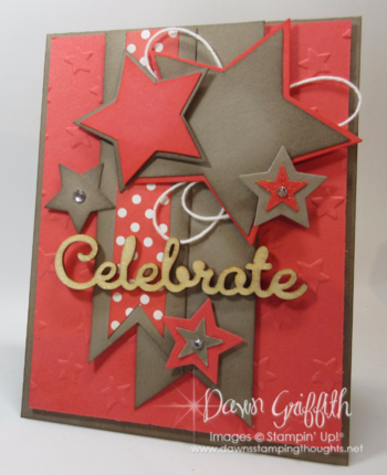 Celebrate Stars card Dawn Griffith Stampin'Up! demonstrator