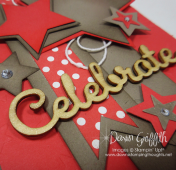 Celebrate Stars card upclose Wink of Stella on Celebrate Dawn Griffith Stampin'Up! demonstrator