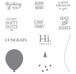 Party Pants 2016  Sale-a-Bration stamp  set