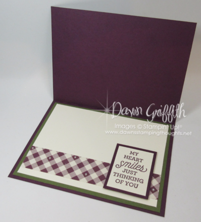 Friendship is the spice of LIFE Inside by Dawn Griffith Stampin'Up! Demonstrator  all the measurements and details are posted on my blog .