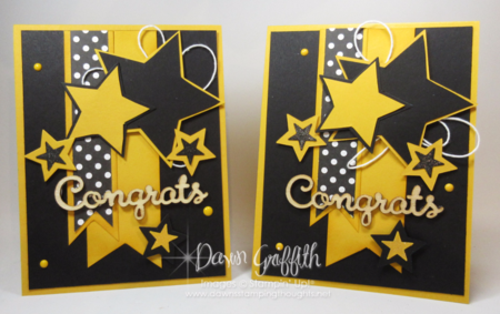 Congrats Star framelits cards  with Stampin'Up! Demonstrator Dawn Griffith