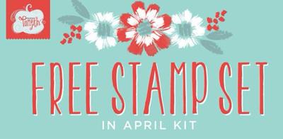 April Paper Pumpkin extra stamp set inside