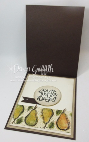 Farmers Market DSP card  inside  by Dawn Griffith Stampin'Up! Demonstrator  check out my blog for all the details on this card .