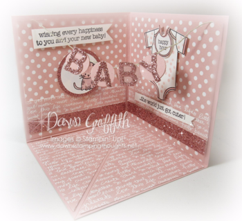 #2 Baby corner pop up card by Dawn Griffith Stampin'Up! Demonstrator More details on my blog