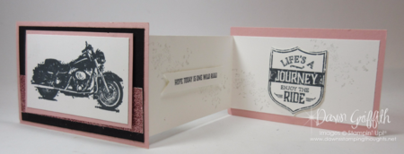 Thank you note for LOH ladies Dawn Griffith One Wild Ride stamp set Stampin'Up! demonstrator