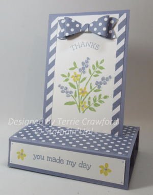 Pop up card from Terrie Crawford with Wisteria Wonder with  Number of years stamp set from Stampin Up