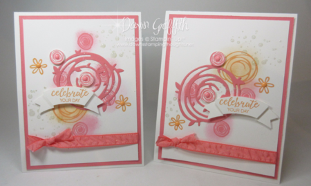Celebrate Your Day cards  swirly Bird stamp set Dawn Griffith  Check out my blog for todays video