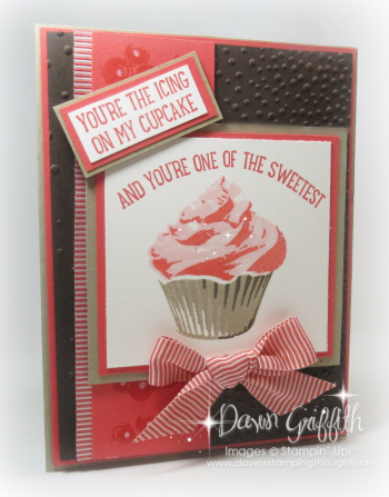 #1 Icing on my Cupcake Sweet Cupcake stamp set Dawn Griffith