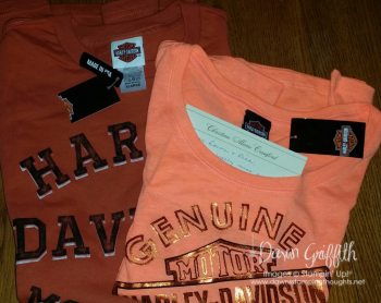 Harley shirts from Christina and Jake Crawford