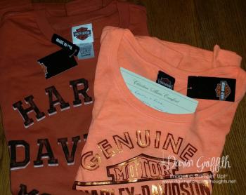 Harley shirts from Christina and Jake Crawford