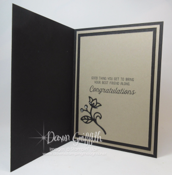 Marriage is a Journey inside details on my blog today Dawn Griffith Stampin Up demonstrator .