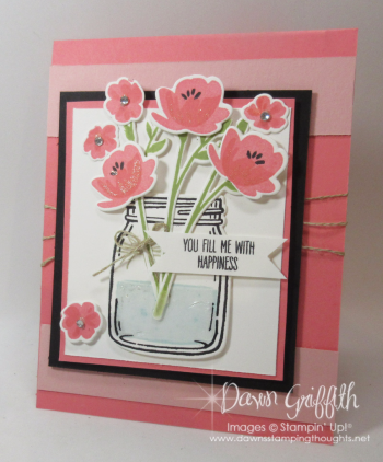 Jar of Love Flirty Flamingocard front  Dawn Griffith Stampin Up Demonstrator