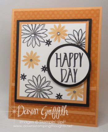 Happy Day Spinner card Front Peekaboo Peach Dawn Griffith Stampin up demonstrator