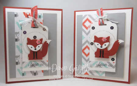 Foxy cards for Mom and Jessie  Dawn Griffith Stampin up Demonstrator