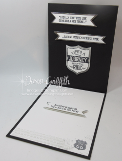 Ruthie's Birthday card inside  Dawn Griffith Stampin Up Demonstrator