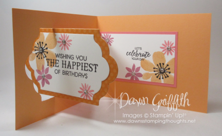 Lots of Labels Z fold birthday card Dawn Griffith Stampin Up Demonstrator