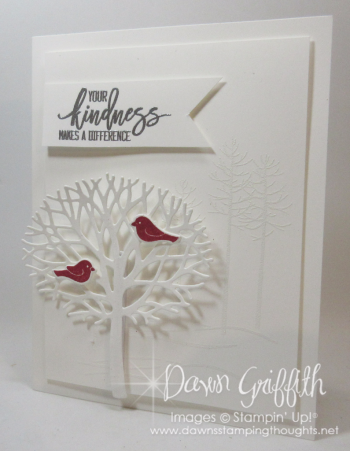 Thoughtful Branches White Dawn Griffith Stampin Up