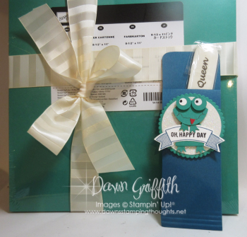 Frog punch art gift for Glitter Queen retreat  Stacey . Dawn Griffith video